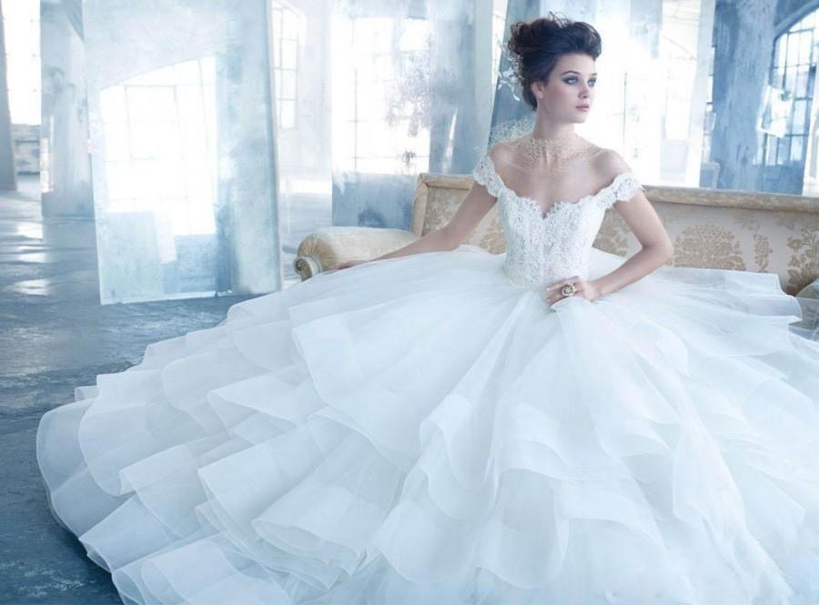 Elegant Ball Gown Wedding Dresses : Elegant ball gown wedding dresses off the shoulder