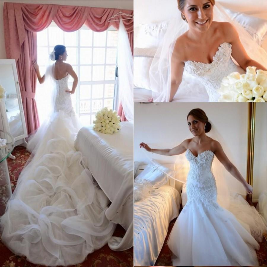 2016 glamorous custom made mermaid wedding dresses sexy for Mermaid wedding dress with train