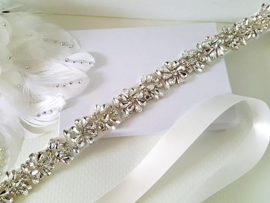 Свадьба - Wedding Belt, Bridal Belt, Sash Belt, Bridesmaid Belt, Flower Girl Belt, Style 184