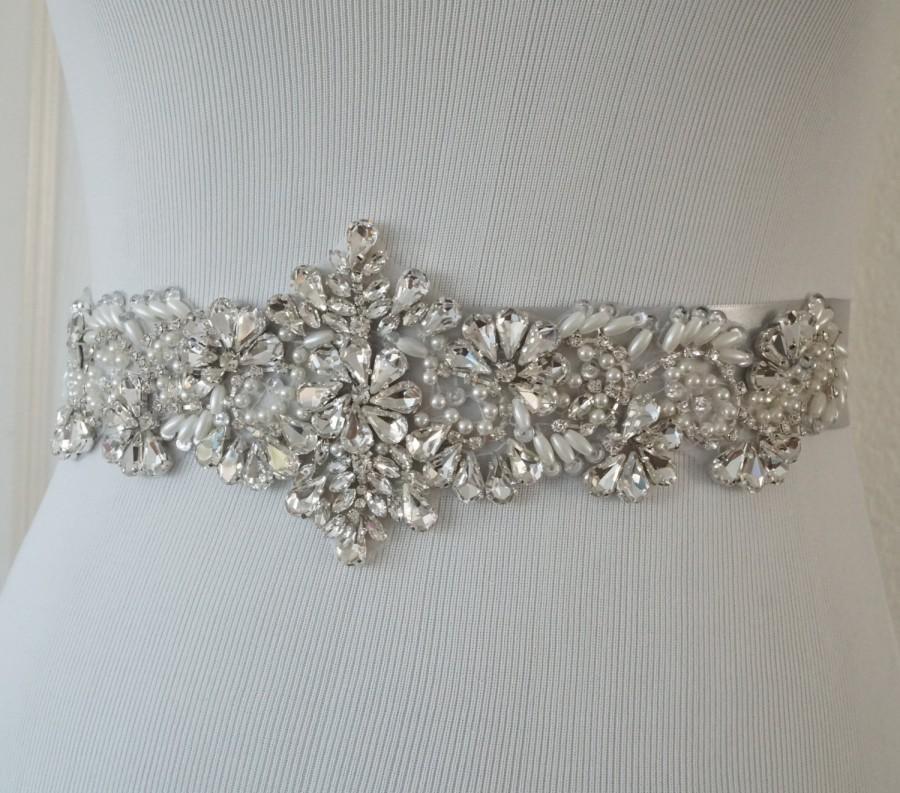 Свадьба - Wedding Belt, Bridal Belt, Sash Belt, Crystal Rhinestone, Style 177