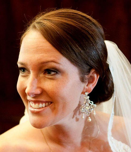 Wedding - Gold Chandelier Earrings, Pearl Bridal Earrings, Swarovski Crystal Jewelry, Art Deco Weddings, CHANTELLE GOLD