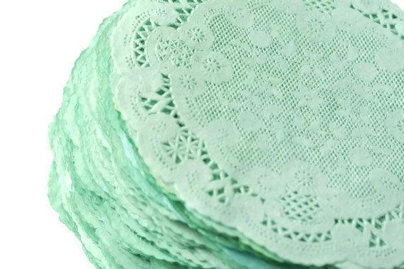 Свадьба - Paper Doilies Mint Green
