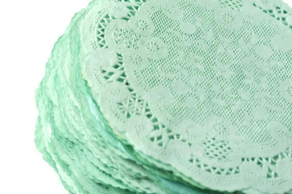 Mariage - Paper Doilies Mint Green
