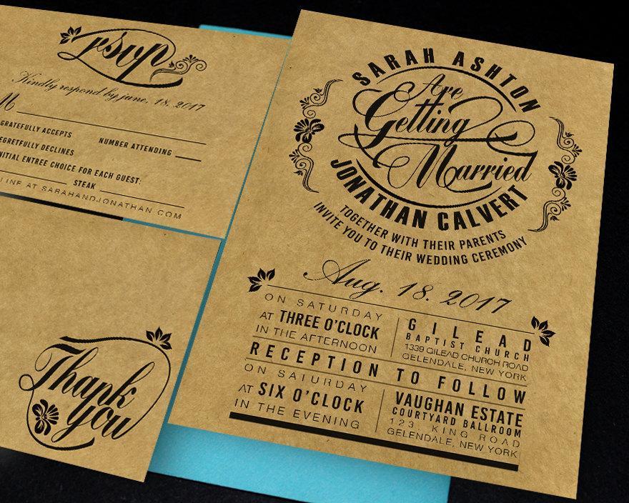 Свадьба - Printable wedding invitation,printable invitation,printable wedding template,dowload invitation,wedding rustic,diy,RSVP,thank you card, 2140