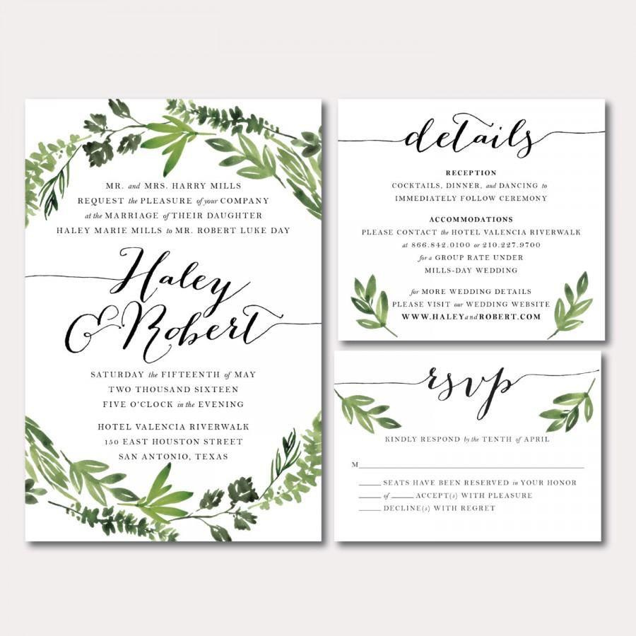 Printable Wedding Invitations: Printable Wedding Invitation Suite