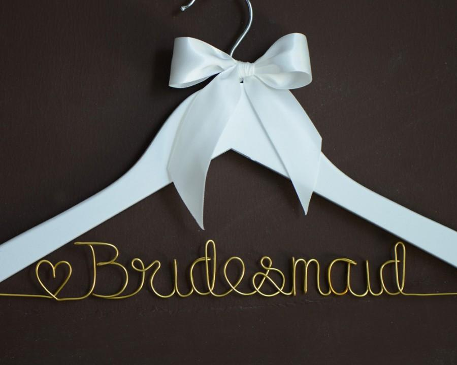 Hochzeit - Promotion, Single Line Bride Name Personalized Wedding Hanger, Personalized Custom Bridal Hanger, Brides Hanger, Bridal Gift