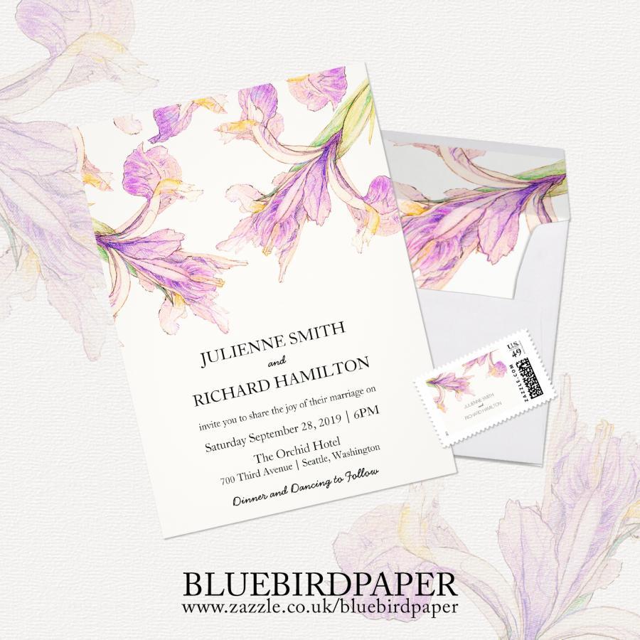 Mariage - Iris Floral, a Rustic Botanical Wedding Invitation