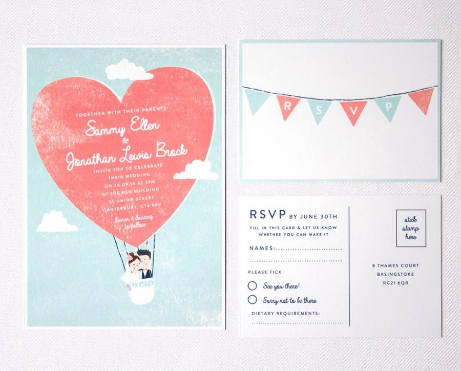 Mariage - DIY Customisable and Printable Wedding Invite and RSVP card