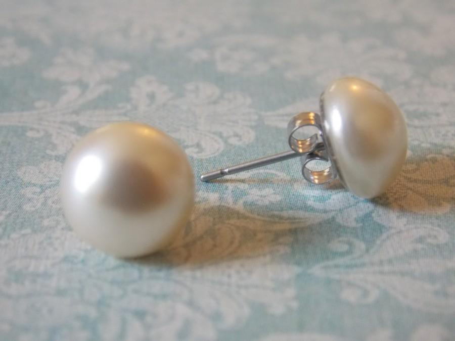 Hypoallergenic Pearl Post Earrings Surgical Steel Studs Bridesmaids Earring Posts Nickel Free Clic