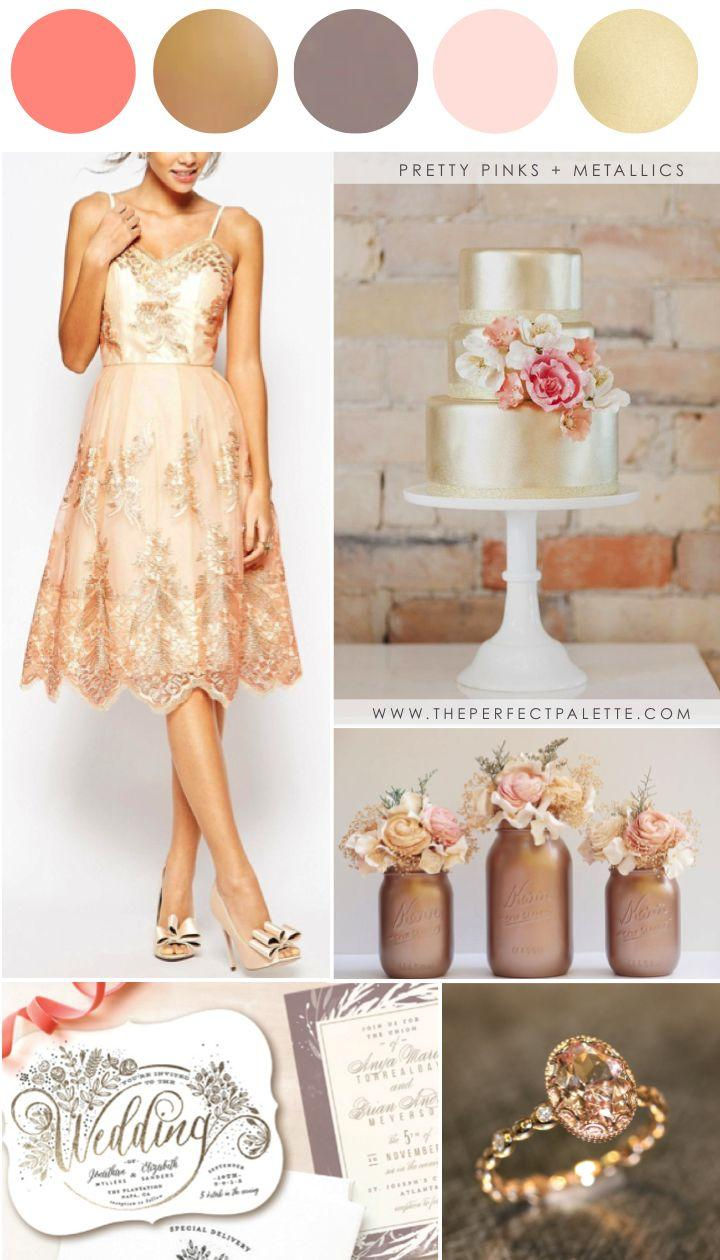 Mariage - Pretty Pinks   Metallics: Wedding Colors