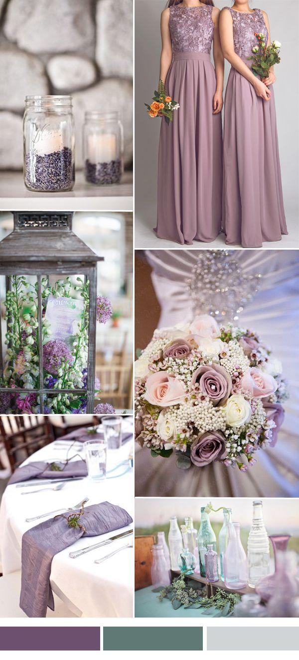 Lilac and burlap wedding