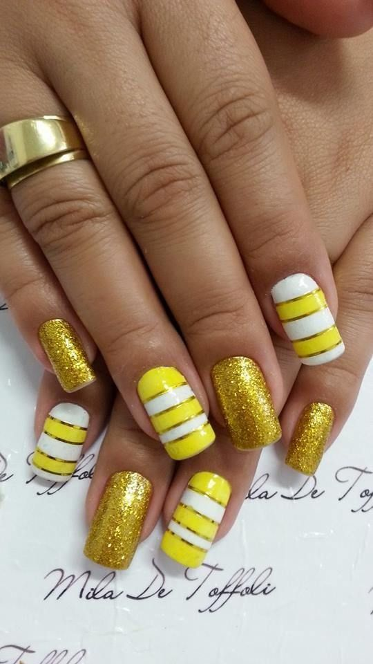 Свадьба - Yellow Nail Designs For Women 2016 - Styles 7