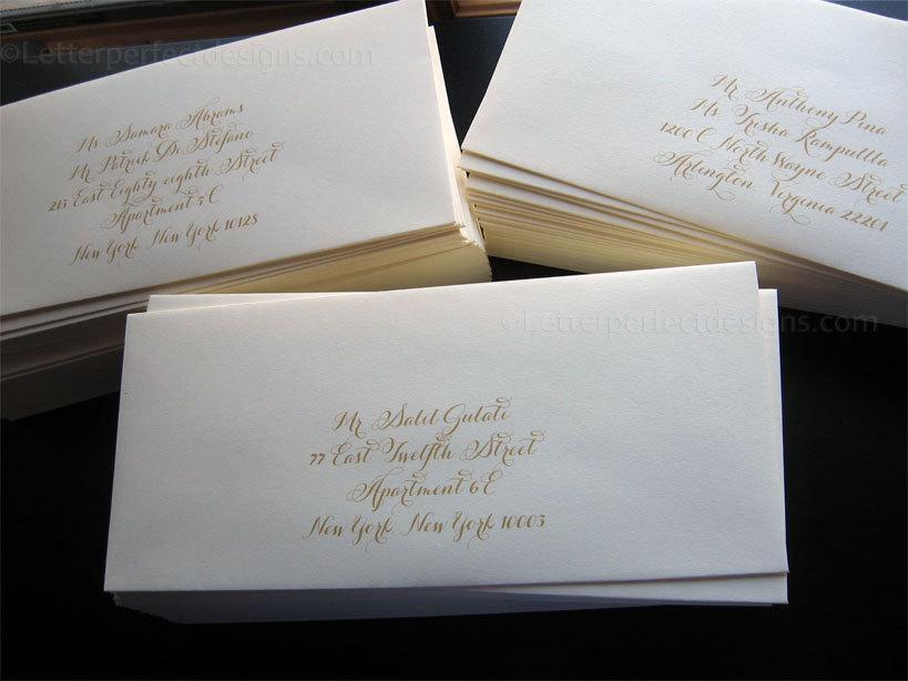 Getting Started Wedding Digital Calligraphy Envelope