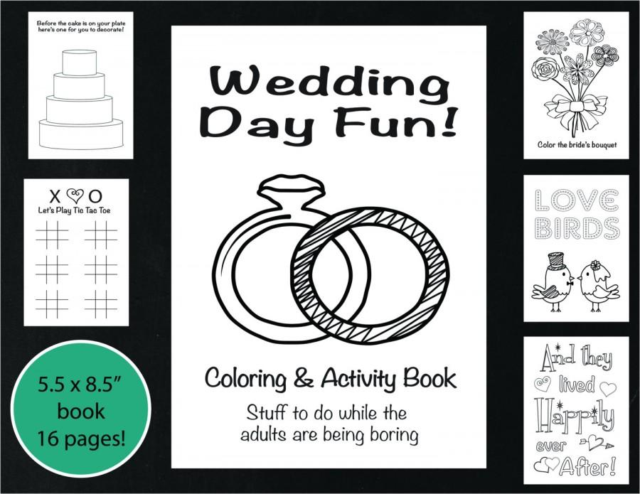 wedding coloring and activity book reception game kids wedding coloring book wedding coloring page wedding word search printable - Wedding Coloring Books