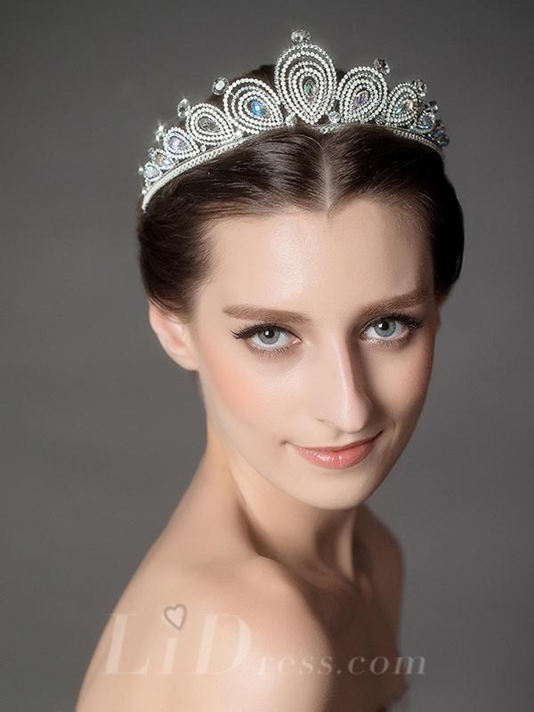 Свадьба - Diamonds Bridal Crown Head Pieces - lidress.com