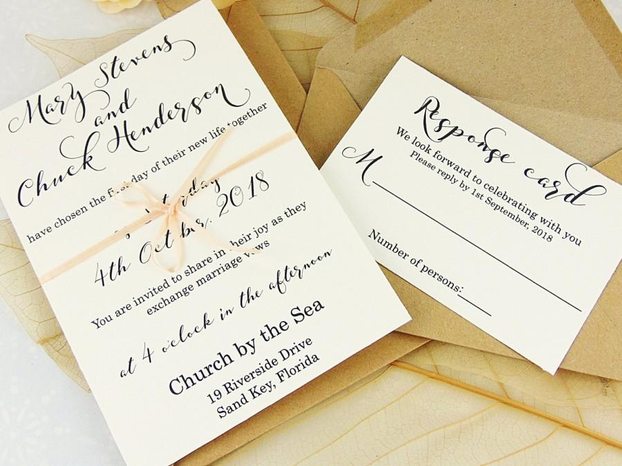 Custom wedding invitation set elegant
