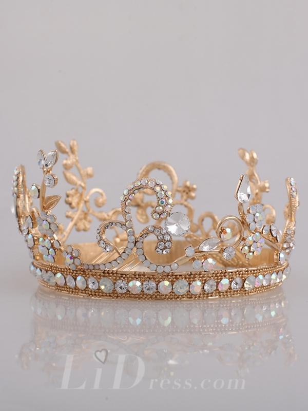 Wedding - Diamonds Bridal Crown Head Pieces - lidress.com