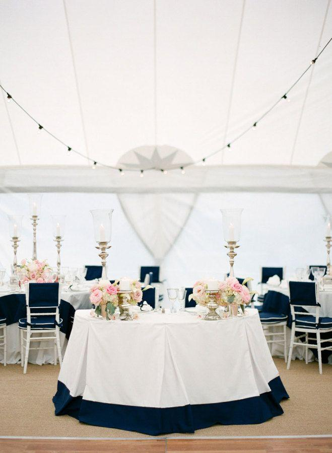 Hochzeit - Nautical Navy & Pink Florida Wedding