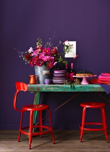 Lila Violett Wandfarbe Mobel Wohnaccessoires Und Deko