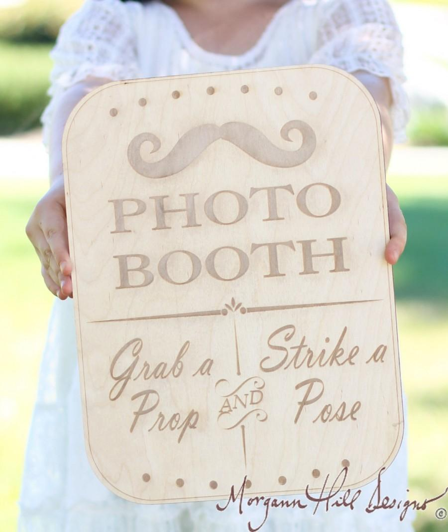 Свадьба - Photo Booth Sign Rustic  Chic Wedding Decor Photo Prop (Item Number 20204)