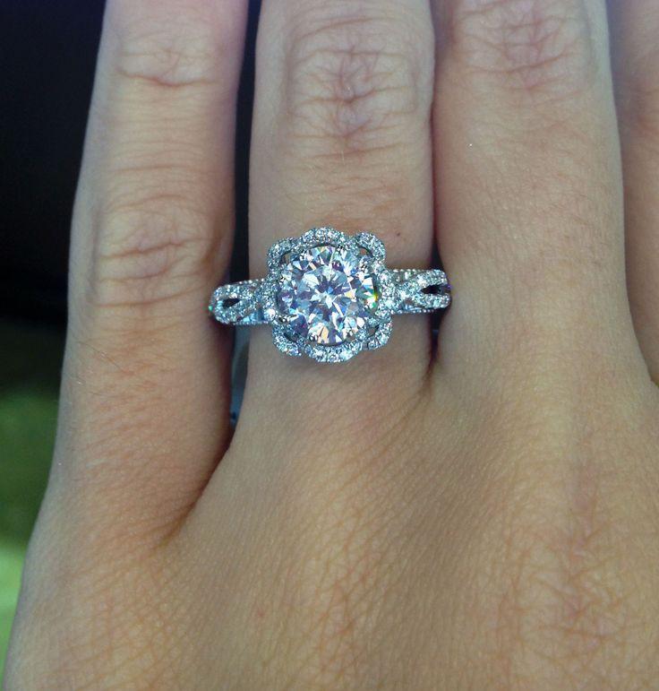 Свадьба - Verragio AFN-5051R-4-GL White Gold 0.45CTW Diamond Mounting