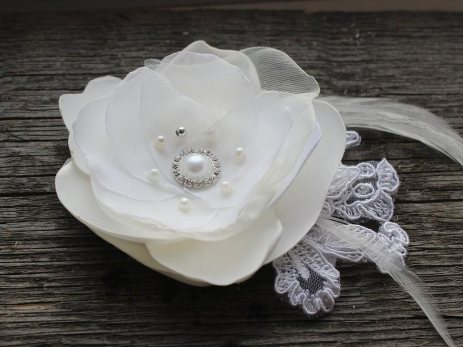 Wedding - Ivory Bridal Hair Clip, Bridal Flower Hair Clip, Ivory hair flower Hair accessories Ready to ship  Bridal accessories  Hair flower