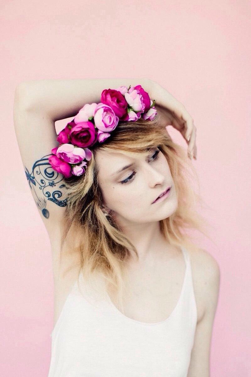 Wedding - Layers of Pink Ranunculus Crown, Floral crown, flower crown, flower headband, floral headband, floral headpiece, headpiece, summer hair