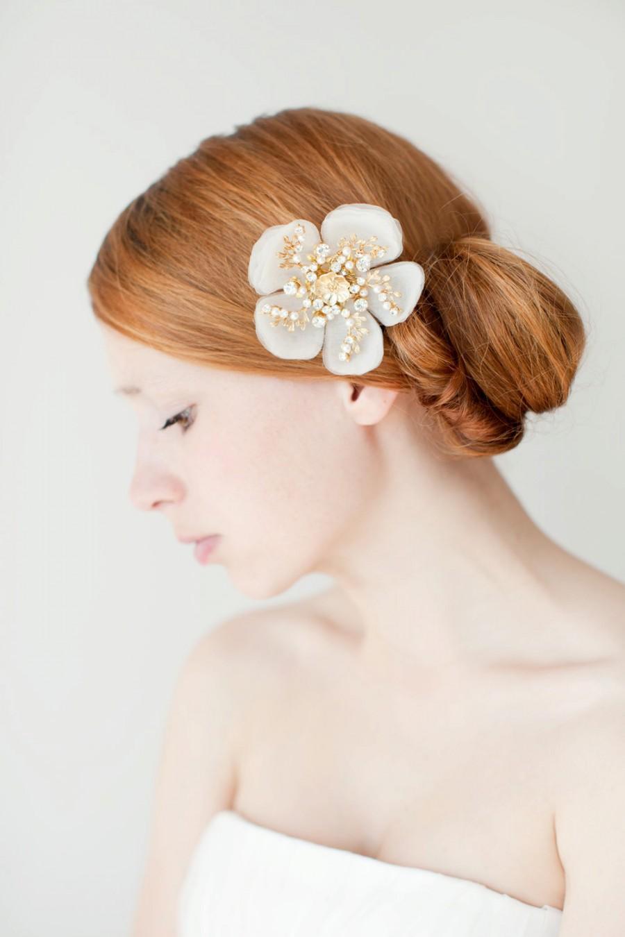 Wedding - Bridal Hair Accessories, Bridal Hair comb, Hair Flower, Crystal headpiece - Style 224
