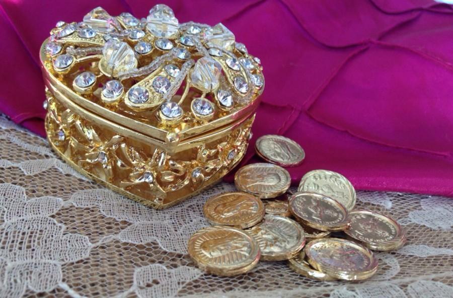 Hochzeit - Gold plated wedding Arras / Arras De Matrimonio bañadas en Oro/ arraz/ unity coins/ 13 coins included