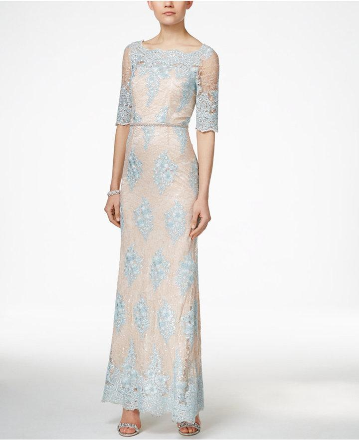 Tahari ASL Embellished Lace Dress #2471472 - Weddbook
