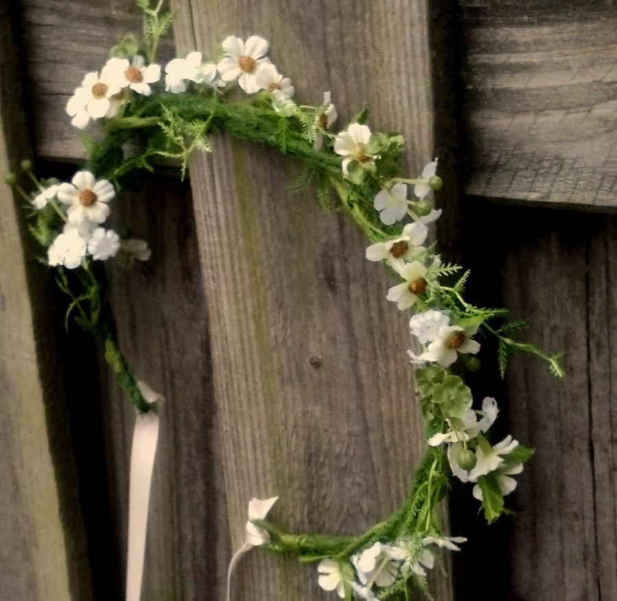 Barn Weddings Bridal Floral Crown Fairy Tale Hair Wreath Wedding