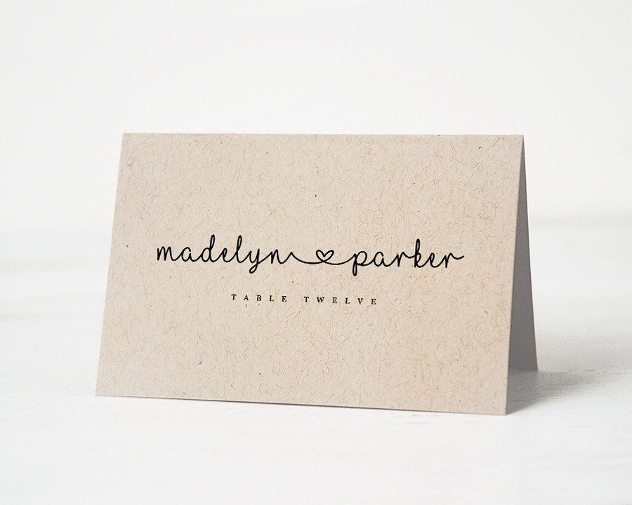 Templates For Place Cards Weddings