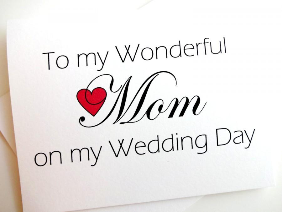 Свадьба - Wedding Thank You for Mom Card