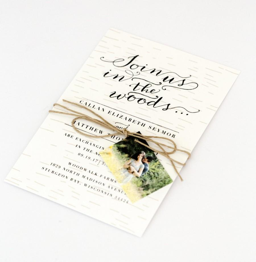 Woodsy Wedding Invitations - Rustic Intimate Outdoorsy Wedding ...