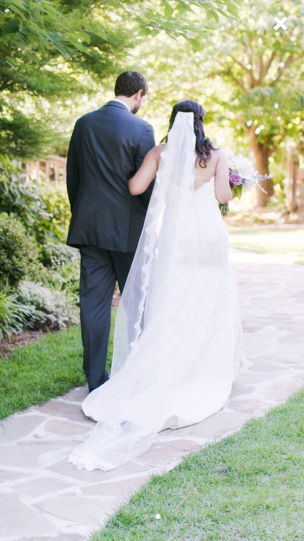 Свадьба - Lace Wedding Veil