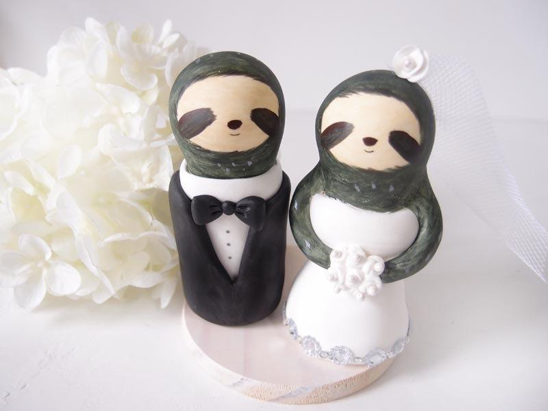 Custom Wedding Cake Toppers Love Sloth With Base