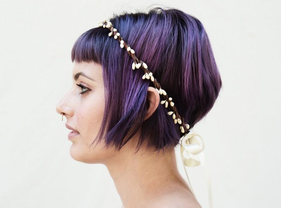 Свадьба - Ivory Berry Headband - Bridal Flower Crown, Bridesmaids gifts, Bridal headpiece, Flower Girl Crown, Bridal Headband, Ivory, Wedding Crown