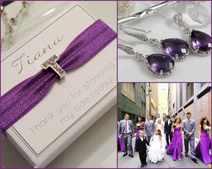Mariage - Amethyst Bridesmaid Jewelry