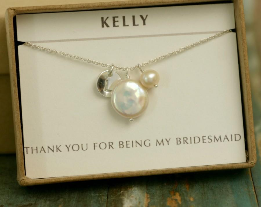 Personalized Pearl Necklace June Birthstone Necklace Personalized
