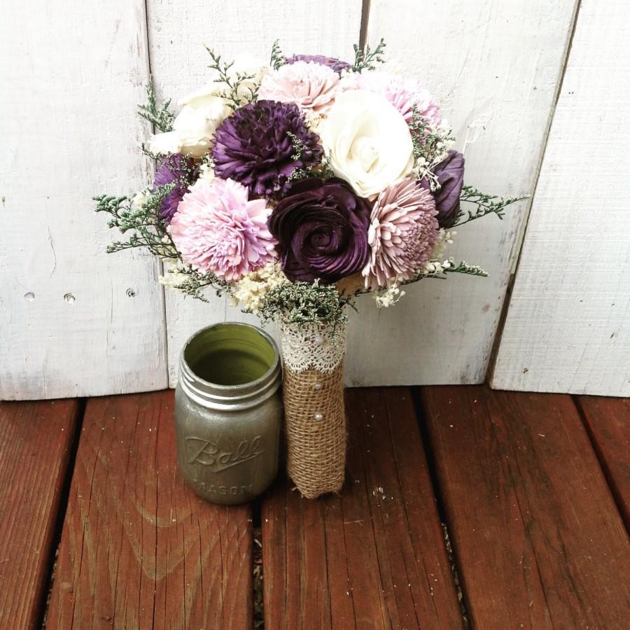 Purple Bouquet Wedding Bouquet Sola Bouquet Purple Bridal