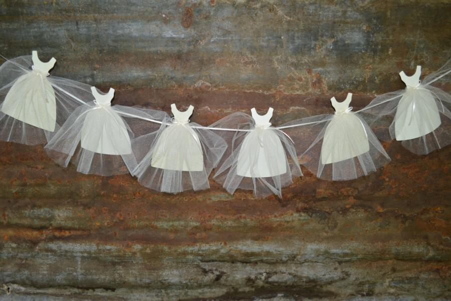 Hochzeit - Bride Gown Banner, Bunting, Garland - Wedding, Bridal Shower