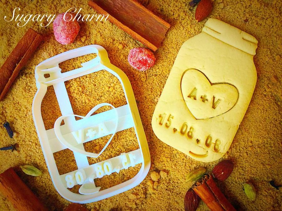 Wedding - Save your date mason jar cookie cutter