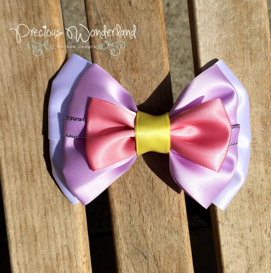 Daisy Duck Inspired Hair Bow