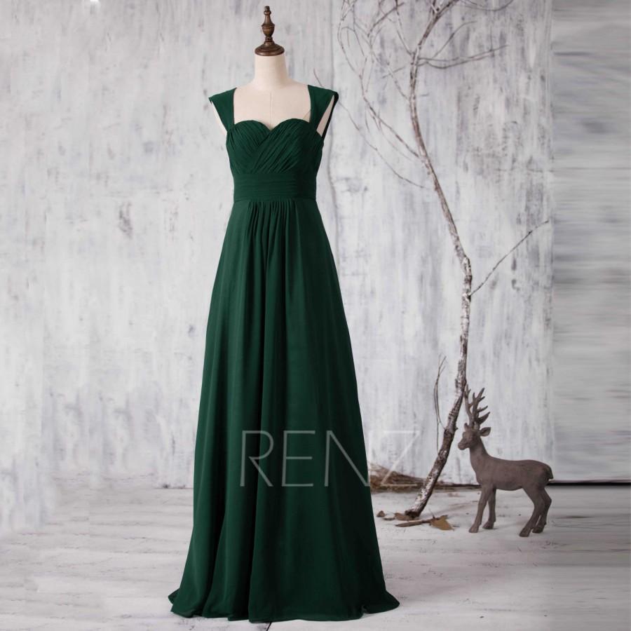 Green dark wedding dresses