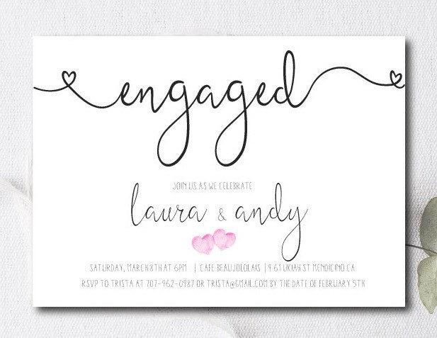 Engagement Party Invite Engagement Party Invitation Couples – Engagement Card Invitation