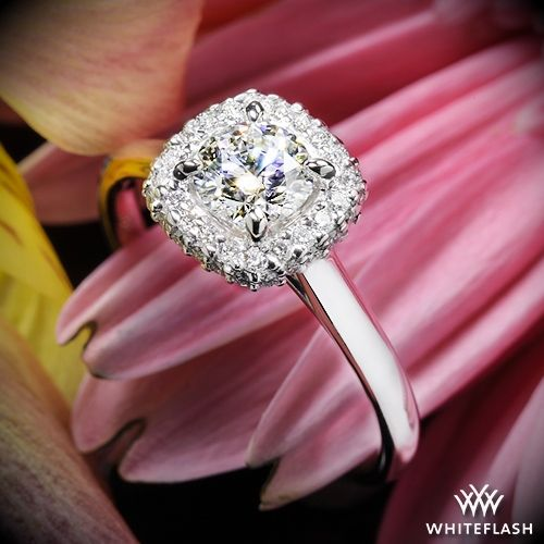 "Hochzeit - 18k White Gold ""Selene"" Solitaire Engagement Ring"