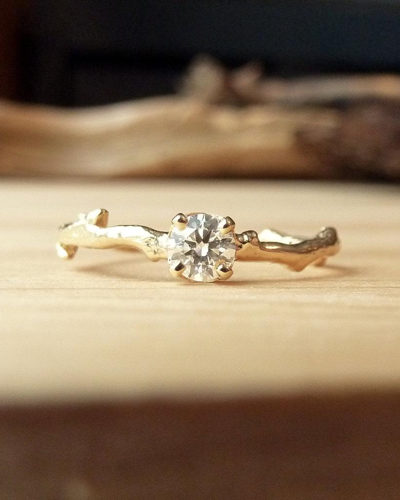 Wedding - Prong Set Diamond Branch Ring
