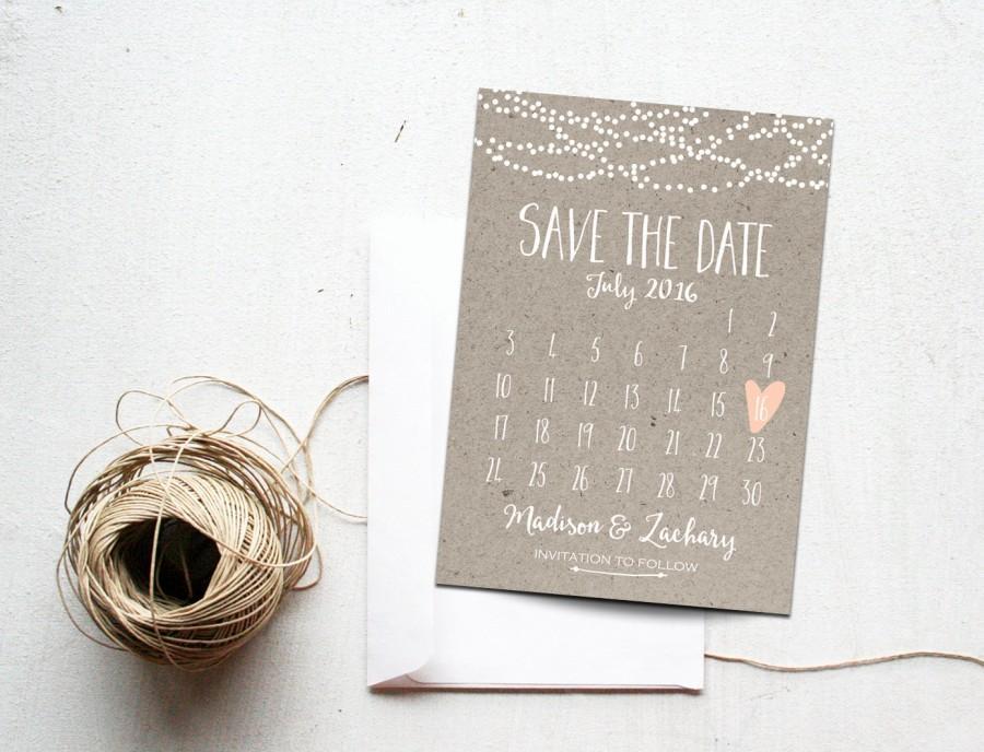 Wedding Calendar Printable | Printable Calendar 2017
