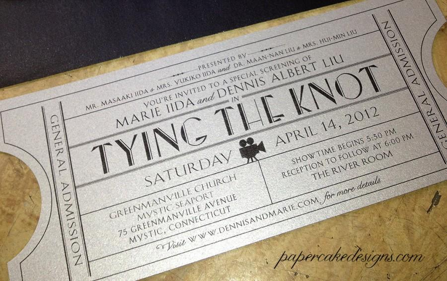 Vintage Wedding Invitation Ticket / DIY Printable PDF / Corporate ...