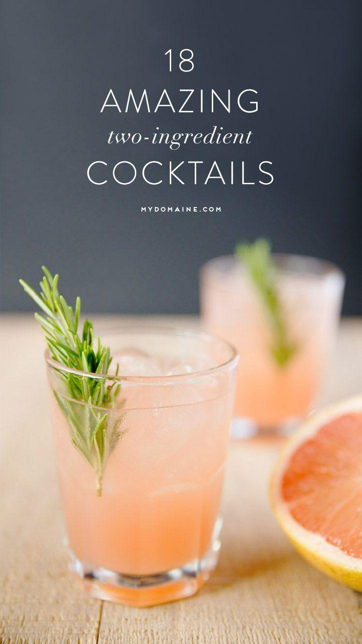Boda - 18 Amazing Cocktails That Require Only TWO Ingredients